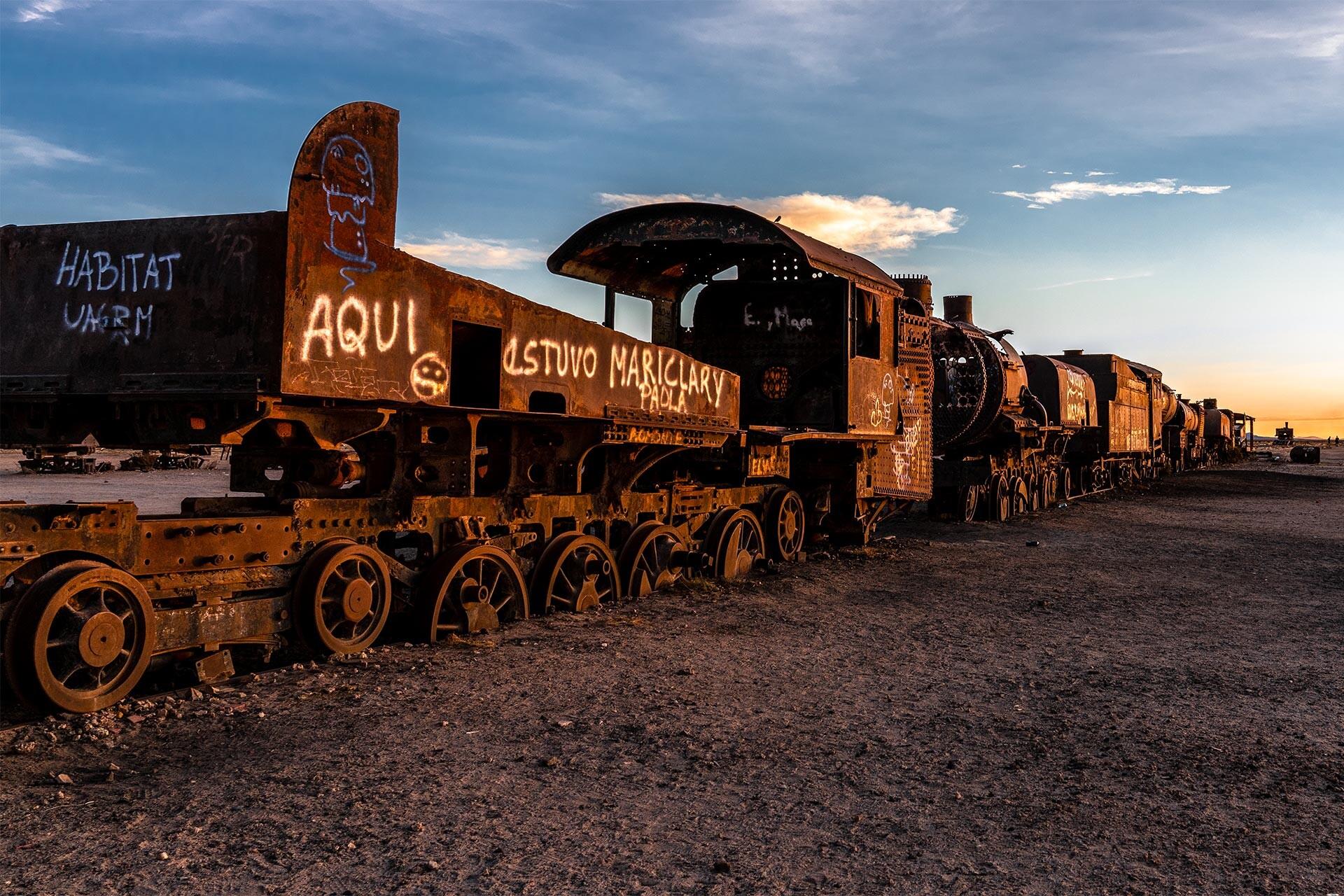 DAS LAND DER EXTREME - BOLIVIEN 2018 - Teil 3: Rostige Lokomotiven und die Flamingo-Invasion